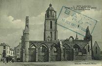 Ruines de la chapelle Notre Dame du Mûrier (XVe siècle). Tour Saint-Guénolé |