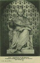 Tombeau de Mgr David, Statue en marbre par Chapu |