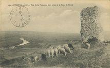 Vue de la Plaine du Lot, prise de la Tour St Michel |