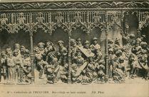 Cathédrale de Tréguier - Bas-Reliefs en bois sculpté  