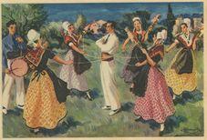 Comtat-Venaissin. Danse des Fileuses | Homualk Charles