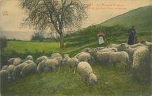 Bergères gardant leurs moutons |