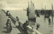 Le halage des barques |