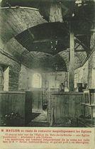 M. MAULION se vante de restaurer magnifiquement les Eglises |