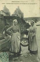 Petites marchandes de poissons au Conquet (F.) |