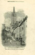 Une Rue et Clocher style bizantin  