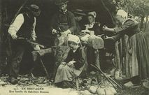 Une famille de Sabotiers Bretons |