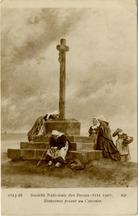 Bretonnes priant au Calvaire |