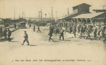 THE BIG MESS AND THE HEADQUARTERS, St-NAZAIRE, FRANCE, 1919 |