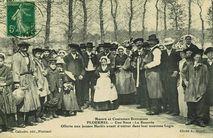 Une Noce - La Beurrée offerte aux jeunes Mariés avant d'entrer dans leur nouveau logis   Houal A.