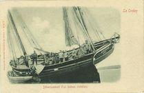 Débarquement d'un bateau crotellois   Poidevin F.