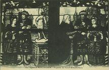 Eglise de Moncontour - Fragment du Vitrail de Sainte-Barbe |