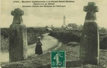 Menhirs christianisés à la Pointe Saint-Mathieu (Environs de Brest) |