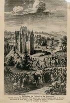 Bataille d'Auray (20 Septembre 1364), gagnée par Jean de Bretagne, comte de Montfort sur Charles de Blois, qui y fut tué. Cette bataille mit fin à la longue et désastreuse Guerre de Succession de Bret |
