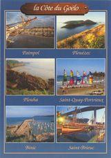 Le bassin à flot (Paimpol), la pointe de Minard (Plouézec), les falaises (Plouha), la plage de Saint-Quay-Portrieux, la digue et le port (Binic), et le port du Légué (Saint-Brieuc) | Soret D.