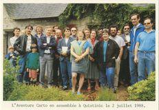 L'Aventure Carto en assemblée à Quistinic le 2 juillet 1988.   Allanioux M.