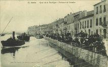 Cette - Quai de la Bordigue - Pêcheurs de dorades | Imprimerie A. THIRIAT et Compagnie