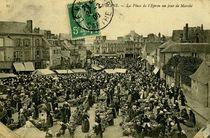 Place de l'Epron un jour de Marché |
