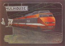 TGV en gare de Mulhouse   Coral Lisa