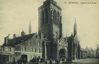 L'Eglise et la Place | Circuits des auto-cars de Cornouaille