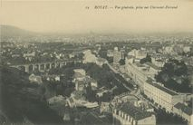 Vue générale, prise sur Clermont-Ferrand | Neurdein