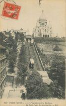 Le Funiculaire et la Basilique du Sacré-Coeur de Montmartre |
