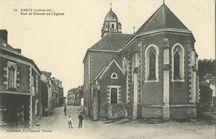 Rue et Chevet de l'Eglise |