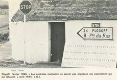 Février 1980. Les centrales nucléaires ne seront pas imposées aux populations qui les refusent. Avril 1974 V.G.E. | Sépia