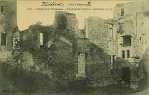 Château de la Hunaudaye. - Vue prise de l'intérieur, côté Ouest