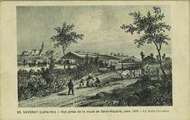 Vue prise de la route de Saint-Nazaire, vers 1860 - La Gare Nouvelle |
