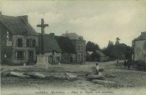 Place de l'Eglise vers Locminé  