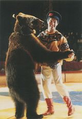 IOURI ALEXANDROV et son ours qui danse 1993   Kervinio Yvon