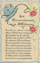 Les commandements de Ste-Catherine  