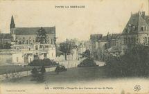 Chapelle des Carmes et rue de Paris |