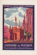 CALVAIRE DE PLEYBEN. CIRCUIT AUTOMOBILE AU DEPART DE QUIMPER. L'un des plus beaux monuments de ce genre en Bretagne (1650), près d'une magnifique église des XVIe-XVIIIe siècles. | Pal