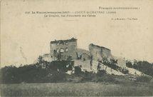 Le Donjon, vue d'ensemble des ruines | Phot-express