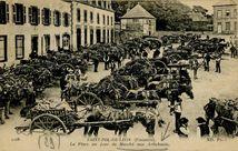 La Place un jour de Marché aux Artichauts. | Nd