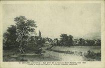 Vue prise de la route de Saint-Nazaire, vers 1850. |