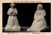 FEMME D'AURAY (34 cm) de Bachelet. FEMME de BAUD (32 cm) |