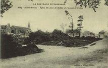 Eglise Ste-Anne de Robien et l'avenue de Robien  