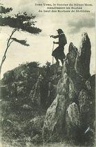 Ioan Vraz, le Sorcier du Ménez'Hom, maudissant les Boches du haut des Rochers de St-Gildas |