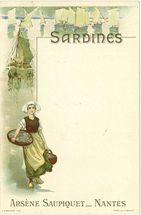 Sardines. Arsène Saupiquet _ Nantes |