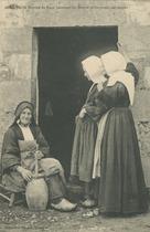 Vieille femme de Baud barattant du Buerre et racontant ses contes |