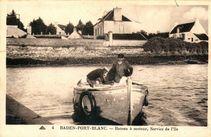 Bateau à moteur, Service de l'Ile |