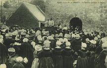 Pardon de N.-D. du PENITY - Le Sermon pendant la Messe  