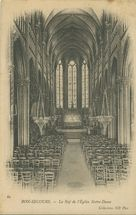 La Nef de l'Eglise Notre-Dame | Neurdein