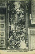 Palais de justice - Grand'Chambre du Parlement de Bretagne. Tapisserie des Gobelins - La prédication d'Abelard | Société française de photoypie