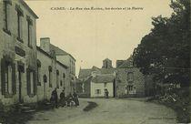 La Rue des Ecoles, les écoles et la Mairie  