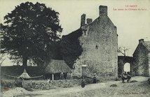 Les restes du Château du Saint |