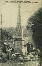 La Fontaine monumentale du Relec - Route de Morlaix au Huelgoat |